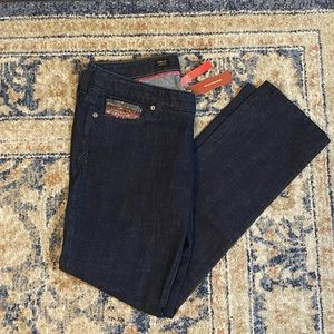Express dark wash sequin skinny jeans NWT